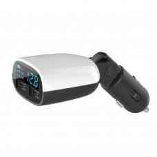 Dual Port Car Charger with LED Display