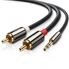 3.5mm Jack Male to 2RCA Phone Audio Cable