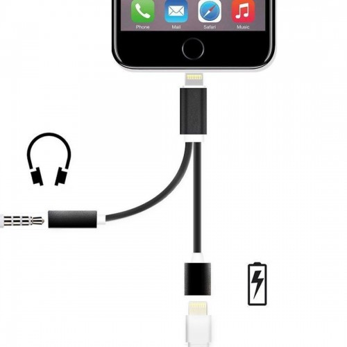 the best attitude fa3ed 68385 iPhone 2 in 1 AUX and Charger at Techie World